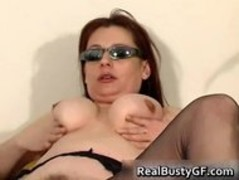 Stunning round tits mom dildo fucked part1 Thumb