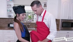 Two Dad's Swap Fuck Hot Latina Teen Daughters During Cook Off Thumb
