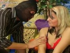 Blond whore blindfolded and sucking cock part1 Thumb