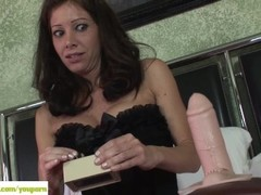 Angel Little Rides Sybian Thumb