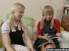 Lesbian Schoolgirls Do Some Anal Exploration Thumb