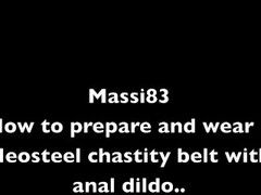 How to prepare and ware a Neosteel chastity belt with anal dildo Thumb