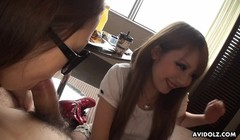Japanese chick, Buruma Aoi and friends like casual threesomes Thumb