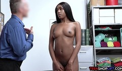 Big booty ebony teen thief busted hard by an officer Thumb