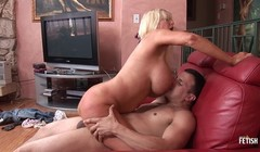 Granny with huge boobs bangs a young dude with big cock Thumb