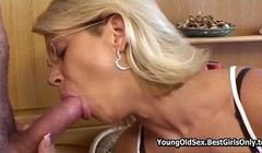 Blonde Cougar Spreading For Not Stepson Thumb