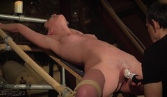 Teen slave screams and cums for her BDSM master Thumb