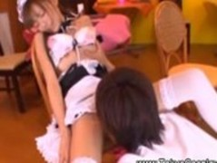 Horny guest loves asian maids pussy Thumb