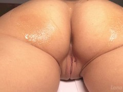 DIRTY FRENCH MASSAGE - OILY GLOVES ON MY BIG ASS - REAL ANAL ORGASM 4K Thumb