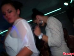 Party eurosluts doggystyle fucked by strippers Thumb
