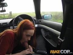 Fake Cop Slutty Farm girl fucks policemans big cock Thumb