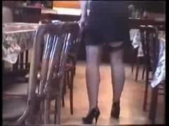 Sexy Upskirt Black Stocking Legs Thumb