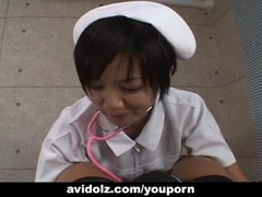 Asian nurse is sucking and titty fucking the cock Thumb