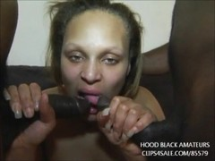 Thick black bbw takes 2 big black cocks in every hole Thumb