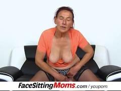 Dirty gilf Linda stockings and face sitting Thumb