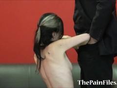 Kinky spanking and rough blowjob of dominated slavesex sub Fae Thumb