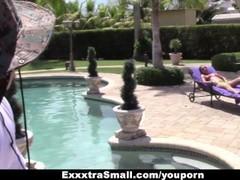 ExxxtraSmall - Petite Teen Teases Spanish Pool Boy Thumb