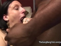 Mature wanking cocks off into her mouth Thumb