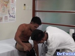 Ethnic doctor plays with twink patients ass Thumb