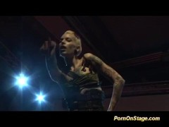 tattooed lesbian fisting live on stage Thumb