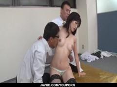 Kinky Japanese trio porn with slutty Sara Yurikawa Thumb