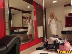 Doppelganger tgirls get ready for their scene Thumb