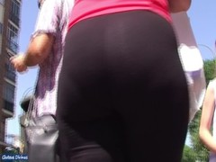 spanish candid booty in black lycra Thumb