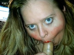 Fatty BBW MILF CAM Girl Sucks Cock like an Ugly Deepthroat BJ Whore Thumb