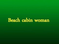 Beach cabin woman Thumb