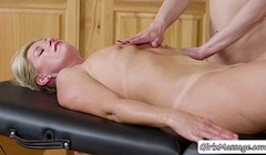 Hot MILF Masseuse gets eaten by rookie masseuses Thumb