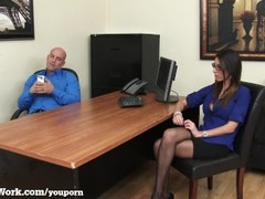 Slutty Secretary Fucks Her Boss To Keep Her Job Thumb