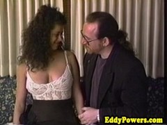 Retro sextape of busty babe handling two nobs Thumb