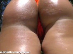 Big Booty Blonde Twerks With Cum On Her Ass! Thumb
