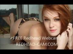 Sexy Horny Redhead Rubs her Vibrator on her Clit Thumb