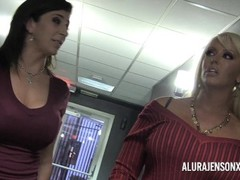 Alura Jenson Sara Jay Kimmy Lee in foursome. Thumb