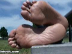 sweaty ebony slim feet Thumb