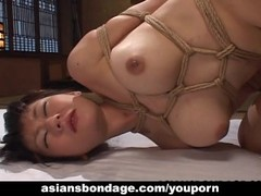 Tied up and she gets her bubble butt fucked Thumb