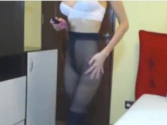 Pantyhose cam show with CassieKay Thumb
