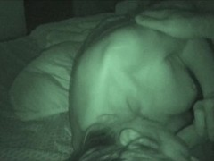 Wife reluctantly swallows two loads of cum on nightshot POV Thumb
