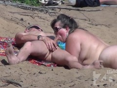 Fatty Blowjob on a nude beach Thumb