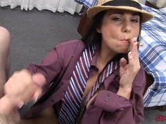 Holly West Tugs While Smoking Thumb