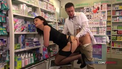 French brunette fucked in the pharmacy Thumb