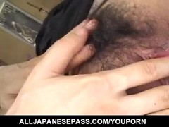 Nana Nanami gets cum on ass cheeks from sucked dicks after fuck Thumb