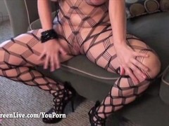 Big Tit Maggie Green Gets Fucked in Fishnet! Thumb