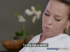 Massage Rooms Horny Milf wanks sucks and fucks hard dick like a pro Thumb