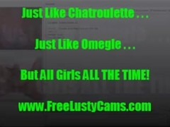 Hot Omegle ChatRoulette Teen Shows Huge Tits For a Cumshot From Big Cock! Thumb