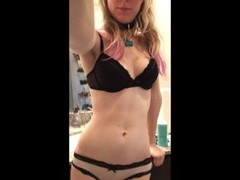 Pet Slave Pisses New Panties in Sink Thumb