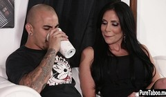 MILF jumped on butlers cock after a husband fell asleep Thumb