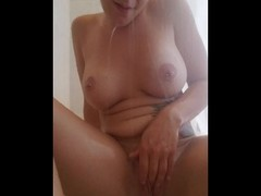 Shaving my wet pussy in the shower and the fucking myself with my vibrator Thumb