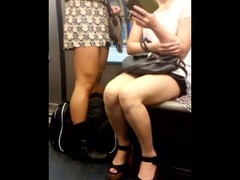 Asian milf and others upskirts in paris subway Thumb